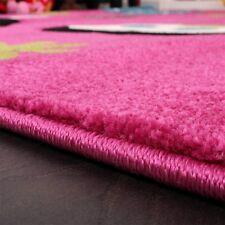 Pink Nursery Rug Baby Girl Bedroom Carpet Children Soft Play Room Mat Butterfly 120x170cm
