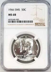 1966 SMS Kennedy Half Dollar certified MS 68 by NGC!