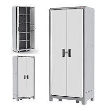 Outdoor Storage Cabinet Patio Shed Garden Box Pool Garage Laundry Organizer Gray