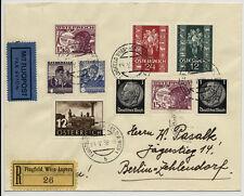 ÖSTERREICH 1938 REKO-BRIEF FLUGPOST! FLUGFELD WIEN-ASPERN nach (Deutschland)Mif