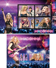 Pop Music Madonna Timberlake Lady Gaga Spears Guinea-Bissau MNH stamp set