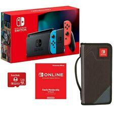 Nintendo Switch Bundle - Carrying Case, 12-Month Membership, 128Gb Memory Card