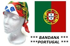 BANDANA PORTUGAL PORTUGAIS 100% COTON 55 X 55 cm DRAPEAU FOULARD MOTARD HEADWRAP