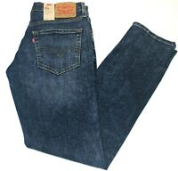Men's Authentic Levi's 511 Skinny Slim Fit Faded Blue Stretch Jeans # 045113224