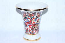 Russian Imperial Lomonosov Porcelain Vase Cockerel / Rooster, National Patterns