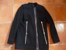 THE KOOPLES veste noire, fermeture éclair & Finitions en Cuir, 36, 8.