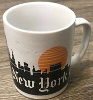 New York, New York Mug White With City Skyline And Sun