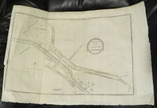 Map Plan of ANTRIM TOWN 1798 Irish Rebellion Wicklow Ireland 1801 Musgrave 11x16