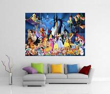 Personajes De Disney Gigante Pared arte cartel impresión de imagen de foto