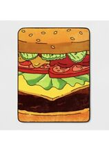 New Bob's Burgers Hamburger Photo Plush Fleece Throw Gift Blanket Tv Cartoon Nip