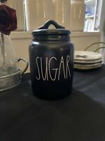 RAE DUNN By Magenta Baby  SUGAR Black Canister  Small NEW FALL 2020 LL