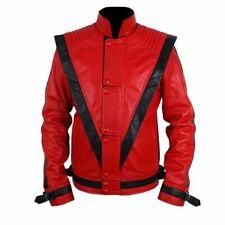 Michael Jackson Thriller Rouge Cuir Véritable Veste