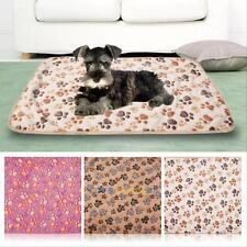 Chaud Pet Mat Petite Grande Paw Print Cat Puppy Fleece Blanket Tapis Coussin New