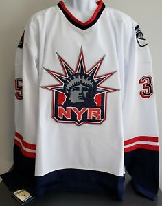 Mike Richter #35, New York Rangers White Alternate Throwback Jersey Size...Large