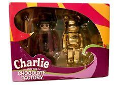 Wb Charlie & The Chocolate Factory Willy Wonka Medicom Kubrick Bearbrick 2 Pc.