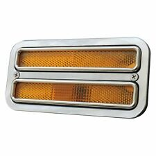 For Chevy K20 Pickup 68-72 Dual Window Polished Side Marker Light Bezels