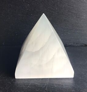 Large Selenite Crystal Pyramid 1.2kg 10cm Cleansing Healing Angelic Crown Pure 2
