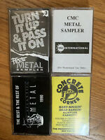 1990 Heavy Metal Store Promo Cassette Lot Of 4 Metal Tapes Demo Accept Primus 91