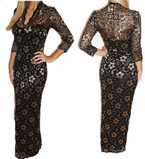 Lace V Neck Stretch, Bodycon Floral Dresses for Women