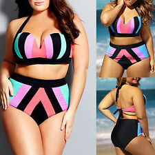 Women's Push up Bandage High Waist Bikini Swimwear Swimsuit Beachwear Plus Size