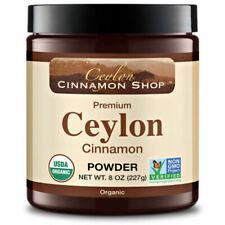 Organic Ceylon Cinnamon (100 Certified) Powder 8 Ounces