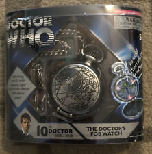 New Doctor Who- The 10Th Doctor'S Fob Pocket Watch- W/ Speech, Light, & Sound Fx