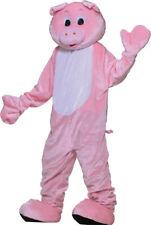 Quality Pig Adult Costume Mascot Large - XXL Pink Swine Animal Plush Fun Fur