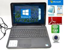 Dell Inspiron 15.6 Laptop 500GB Wireless Webcam Windows 10 Battery works+charger
