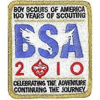 BOY SCOUT BSA OFFICIAL 2010 100th ANNIVERSARY PATCH LOGO EAGLE SUMMER CAMP GIFT