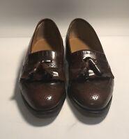 Johnston & Murphy Optima Men's size 11.5 Brown tassel wingtip loafers