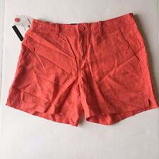 NWT Women's Calvin Klein Jeans Porcelain Rose Linen Shorts, Size 10