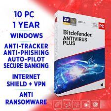 Bitdefender anti virus plus 2021 10 PC 1 año/Versión completa + VPN