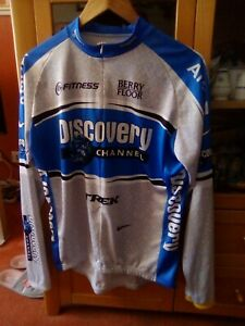 Nike Discovery Channel Berry Floor Long Sleeve Cycle Shirt Size XL