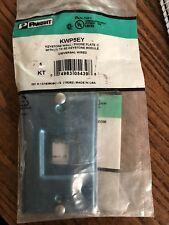 Panduit KWP5EY Keystone Wall Phone Plate with Cat 5e Keystone Jack