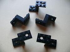 Lego 5 pieces de voitures noires set 7243 8079 7297 10144 / 5 black bracket
