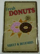 PB79 PLAQUES TOLEE vintage 20 X 30 cm : Fresh DONUTS Sweet & Delicious 20c
