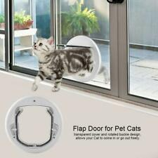 Pet Door Cat Small Dog door 4 Ways Locking Round Clear Flap for Glass Window