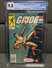 G.I. JOE 21 Rare NEWSSTAND CGC 9.8 WHITE PAGES 1st Print Silent Issue NM Marvel