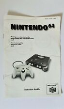 Genuine Nintendo N64 Instructions Booklet - no games or console included