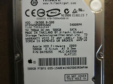 "Hitachi HTS545050B9SA02 PN:0A78255 MLC:DA3350 Apple#655-1540E 500gb 2.5"" Sata"