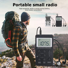Portable Dual Band AM/FM Pocket Radio Digital Display Mini Radio Receiver