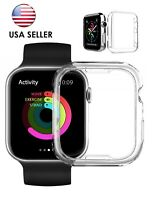 38mm USA iWatch Clear Screen Protector Cover TPU Case 4 Apple Watch Series 3 LOT