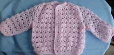 BABY HAND CROCHET JACKET PATTERNED PINK SUIT 12 + MONTH OLD (31)