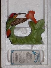 "Vintage 1996 Nature's Bouquet Hummingbird Figurine 3.5"" NEW IN BOX"