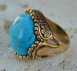 Barse Turquoise and Bronze Ring
