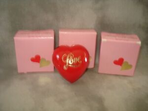 Lot #99 3Vintage Avon Scented With Love Hearts Here's my Heart Solid Perfume