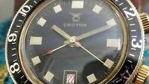 Vintage 60's Croton/Nivada Alarm Men's Diver's Watch  A.schild 1568 Swiss Made.