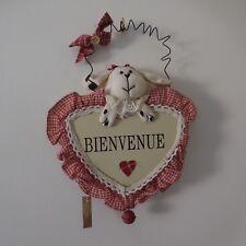 Objet décoration porte BIENVENUE LA GALLERIA BELGIUM art-déco fait main