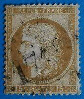 Timbre de France classique Cérès n°55 (TB-752-1)Oblitération Los. GCH (+ 80 €)