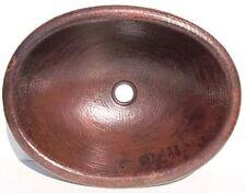 Hammered Oval Bathroom Copper Sink II